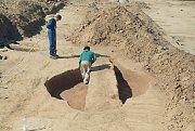 Následný výzkum objektu v místě nálezu menhiru