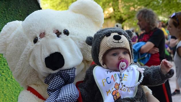 """V rámci setkání příznivců hry Geocaching nazvané """"Medvědí mejdan MeMe 2018"""" se v Náchodě uskutečnil pokus o překonání českého rekordu v největším počtu plyšových medvědů přinesených na jedno místo."""