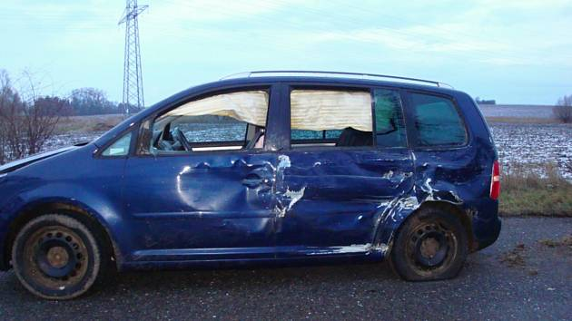 Nehoda v Zaloňově u Jaroměře.