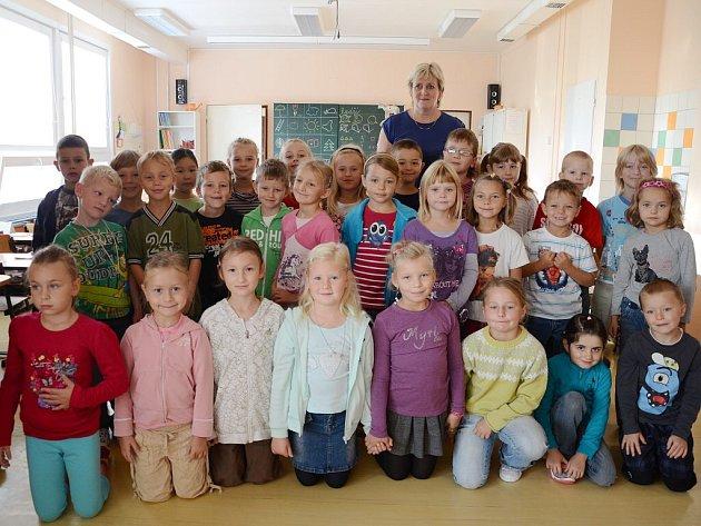 Třída 1.A Základní školy Komenského v Náchodě.