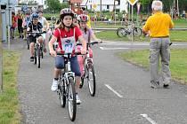 Okresní kolo dopravní soutěže mladých cyklistů.