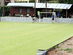 Multifunkční sportovní hřiště na Brance v Náchodě.
