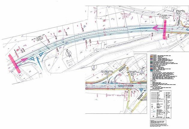 Vpondělí 17.října budou zahájeny stavební práce vpřibližně 350metrovém úseku na výjezdu zNáchoda vmístě od odbočky do ulice UCihelny po odbočku na Nové Město nad Metují.
