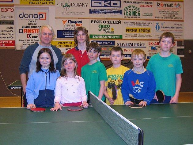 Naděje českoskalického stolního tenisu.