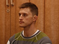 Hráč extraligových Pardubic Petr Mocek.