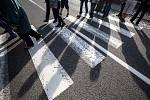 Blokáda na hlavní cestě z Náchoda do Broumova v Malém Poříčí