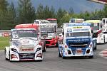 První závod ME tahačů Czech Truck Prix 2017 v neděli vyhrál Adam Lacko ze stáje Buggyra.