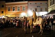 Do Náchoda zavítal svatý Martin na bílém koni