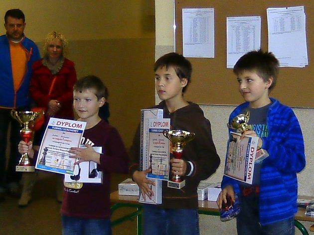 NEJLEPŠÍ trojlístek kategorie do 12 let, kterou vyhrál Lukáš Drašnar z Vrchovin.