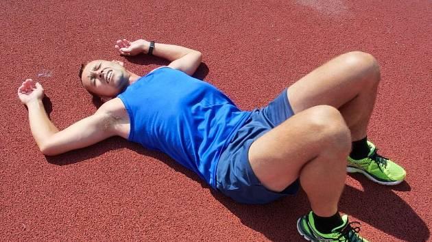 Josef Vondra po závodě na 1500 metrů.
