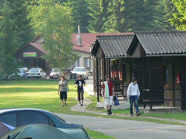 Volná místa nabízí také  kemp Bučnice.