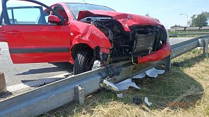 Nehoda dvou aut v České Skalici
