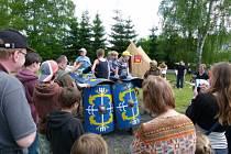 V táboře pod Vysákem ve Stárkově se konal dětský den v antickém stylu.
