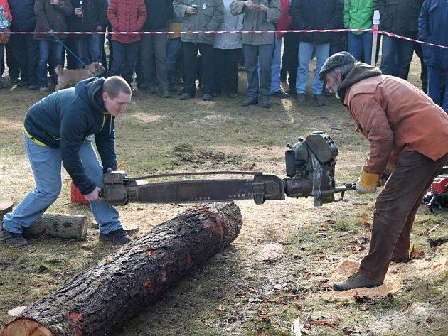 Soutěžní klání Dřevorubec roku v Adršpachu.
