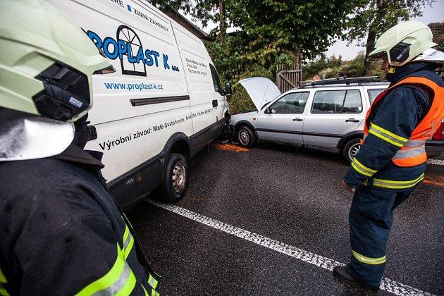 Nehoda ve Vrchovinách.