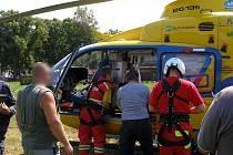Zásah záchranářů v Adršpachu.