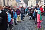 Na Masarykově náměstí v Náchodě se konala akce pro rodiny s dětmi.