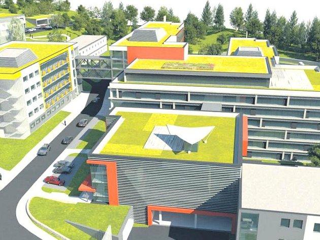 JAK MÁ VYPADAT nová výstavba v dolním areálu náchodské nemocnice, která bude splňovat moderní trendy a požadavky, zachycují vizualizace.