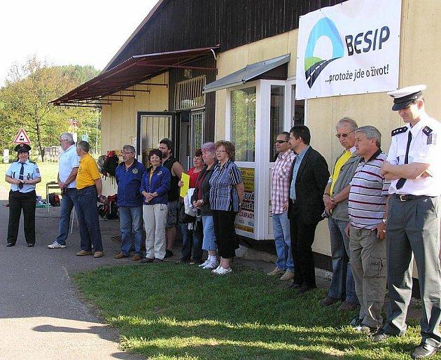 Zahájení Dopravní soutěže mladých cyklistů.