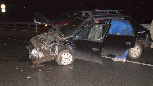 Dopravní nehoda ve Velkém Třebešově.