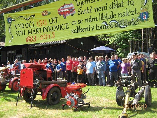 Oslavy 130 let od založení sboru dobrovolných hasičů se v sobotu konaly v Martínkovicích.