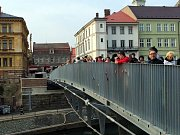 Otevření nového Komenského mostu v Jaroměři.