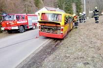 Havárie autobusu v Dolním Adršpachu.