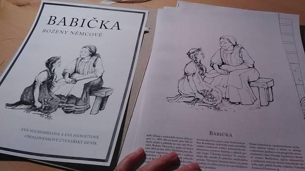 Omalovánkový sešit na 16 stránkách A4 formátu seznámí školáky i studenty s jednotlivými kapitolami stěžejního díla nejznámější české spisovatelky.