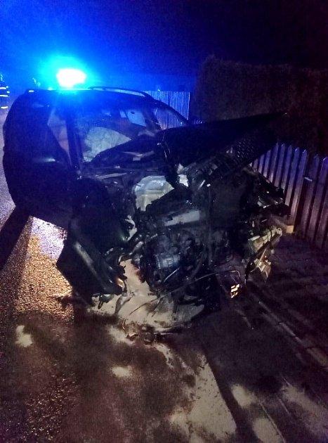 Havárie osobního automobilu vŘíkově.