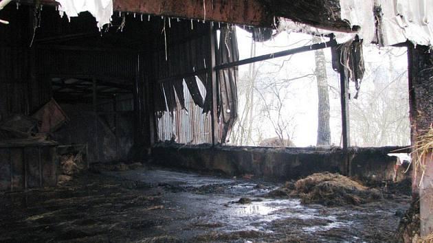Požár skladu v Teplicích nad Metují.