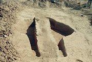 Následný výzkum objektu v místě nálezu menhiru.