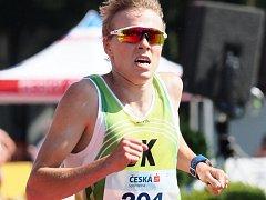 NOVOMĚSTSKÝ vytrvalec Dominik Sádlo si běží pro bronz z MČR na trati 5000 metrů.