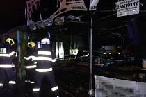Při požáru stánku s občerstvením na hudebním festivalu v Jaroměři - Josefově utrpěla jedna osoba popáleniny