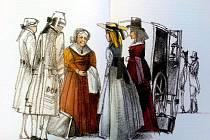 Ilustrace knihy Babička Boženy Němcové v nizozemském vydání od Vladimíra Tesaře.