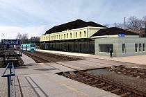 Vizualizace rekonstruované budovy Českých drah v Náchodě.