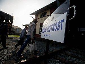 Volby v jaroměřském železničním muzeu