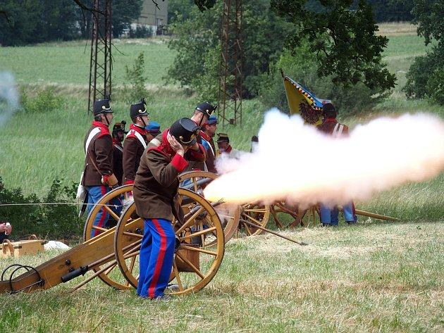 Bitevní ukázky se zúčastnilo zhruba 130 mužů v uniformách rakouské i pruské armády. Překvapení se nekonalo, opět zvítězilo Prusko.