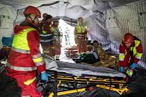 Drama v tunelu. Záchranáři cvičili spolupráci