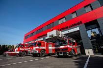 Sobotní prohlídku areálu stanice Jaroměř hasiči museli zrušit kvůli  vnitřním aktuálním epidemiologickým opatřením.