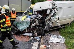 Nehoda zablokovala dopravu.