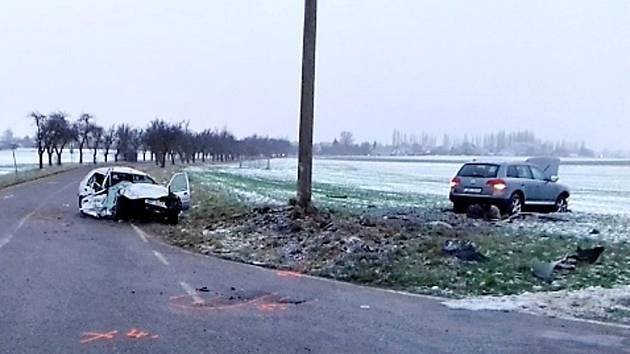 Tragická dopravní nehoda u Dolan na Náchodsku.
