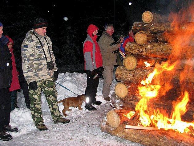 Zimní táboření na Hvězdě (2010).