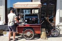 Příchozí si mohli pochutnat na zmrzlině a kávě, kterou polská kočovná kavárna Bílá lokomotiva z Nowe Rudy rozdávala zdarma.