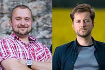 Kandidáti Pirátské strany z Náchodska Tomáš Unger a Michal Čepelka.