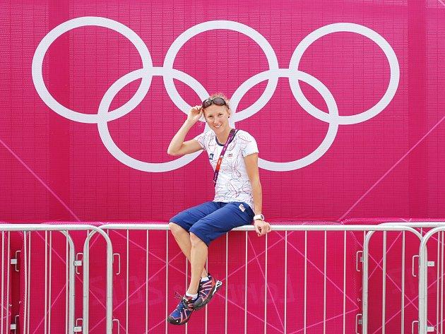 Vendula Frintová s olympijskou symbolikou