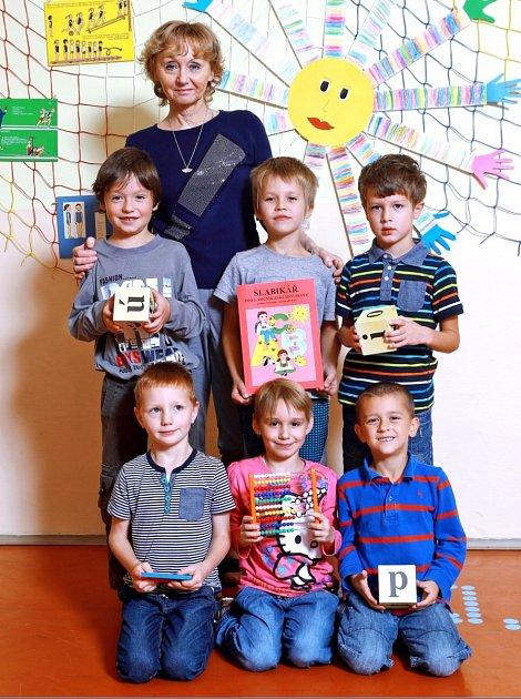 Žáci 1.třídy ze ZŠ Velký Dřevíč