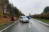 Tragická dopravní nehoda poblíž obce Semonice.