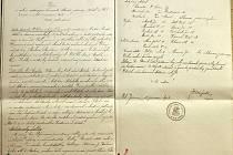 NÁVŠTĚVNÍKŮM oslav byla k dispozici i malá výstavka, na níž byla vyvěšena i kopie zápisu z valné ustavující hromady tělocvičné jednoty Sokol ve Velké Jesenici z 21. prosince roku 1913.