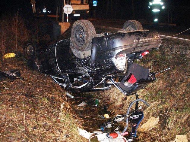 Smrtelná nehoda v Žabokrkách, sobota 4. dubna.