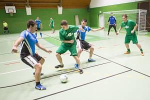 Fotbalová Fain liga firem v Jaroměři.